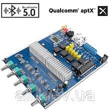 Підсилювач з Bluetooth 5,0 APTX TPA3116 2,1 сабвуфер, 2x50 Вт, 100 Вт, темброблок