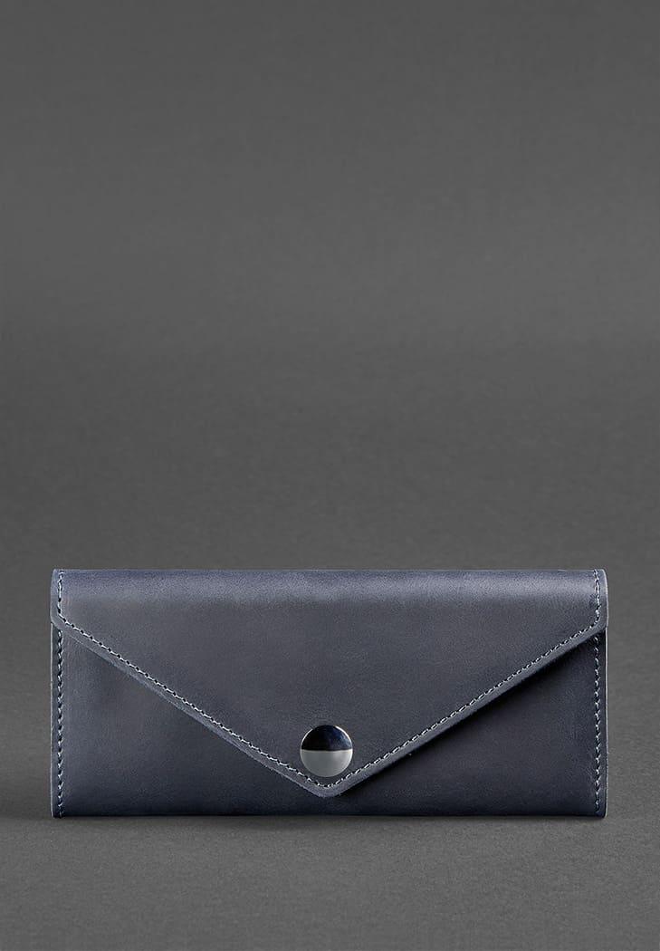 """Кошелек женский кожаный компактный с отделением для монет """"Керри"""". Цвет синий"""