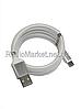 Шнур шт.USB А -шт.USB type C, магнитная смотка, 1метр, белый