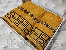 Набір махрових рушників Спів 50*90 і 70*140 TM BELIZZA Туреччина Grecee жовтий