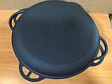 Казан азіатський 8л з чавунною кришкою сковорідкою, фото 2