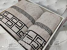 Набір махрових рушників Спів 50*90 і 70*140 TM BELIZZA Туреччина Grecee кремовий