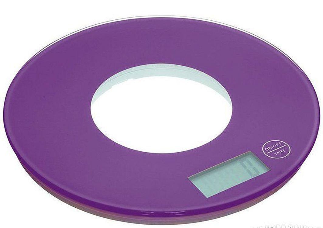 Сенсорні кухонні електронні круглі ваги Colourworks Kitchen Craft до 5 кг, purple