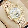 Необычные наручные часы Michael Kors crystal Gold/White 1694