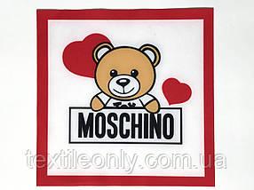 Нашивка Ведмедик сердечка Москіно 230х230 мм