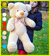 Мягкий плюшевый мишка Раф 100см медовый, подарок для девушки на день рождения