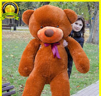 Большой плюшевый мишка 2 метра, коричневый мягкий медведь, подарок для девушки