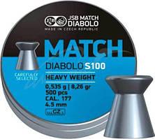 Пули пневматические JSB Diabolo Match S 100. Кал. 4.5 мм. Вес - 0.53 г. 500 шт