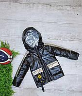 Куртка демисезонная детская WFS для мальчика 3-7 лет,цвет черный, фото 1