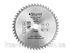 Диск пильный 255х30 мм 48 зубов по дереву для MS5525WM Sturm 9020-255-30-48T