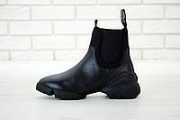 Ботинки женские Christian Dior ботінки жіночі дюор стильные черные черевики