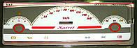 ProSpirit - Накладки на панель приборов для ВАЗ 2101, Light Grey & Red, GT-001