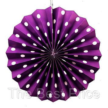 Віяловий коло (картон) 30см (фіолетовий 0021)