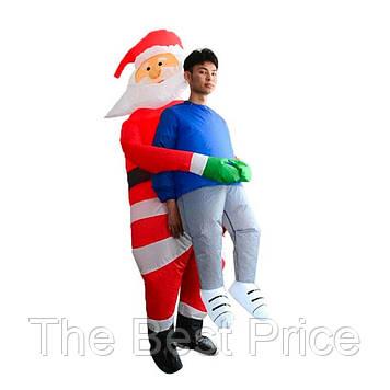 Надувной костюм Санта Клауса