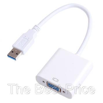 Внешняя USB 3.0 видеокарта USB - VGA Full HD White