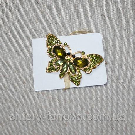 Магнитные подхваты бабочка со стразами тесьма, 70х50мм