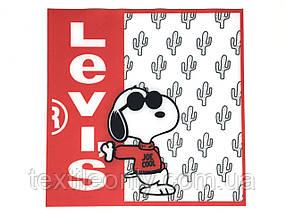 Нашивка Снупі левіс / Snoopy levi's 240х240 мм