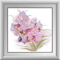 Алмазная мозаика Орхидея. Dream Art 30434 46x46см 31 цветов, квадр.стразы, полная зашивка. Набор алмазной, фото 1