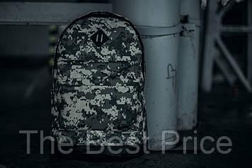 Рюкзак городской для ноутбука Nike серый камуфляж пиксель
