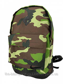 Рюкзак городской для ноутбука Nike зеленый камуфляж