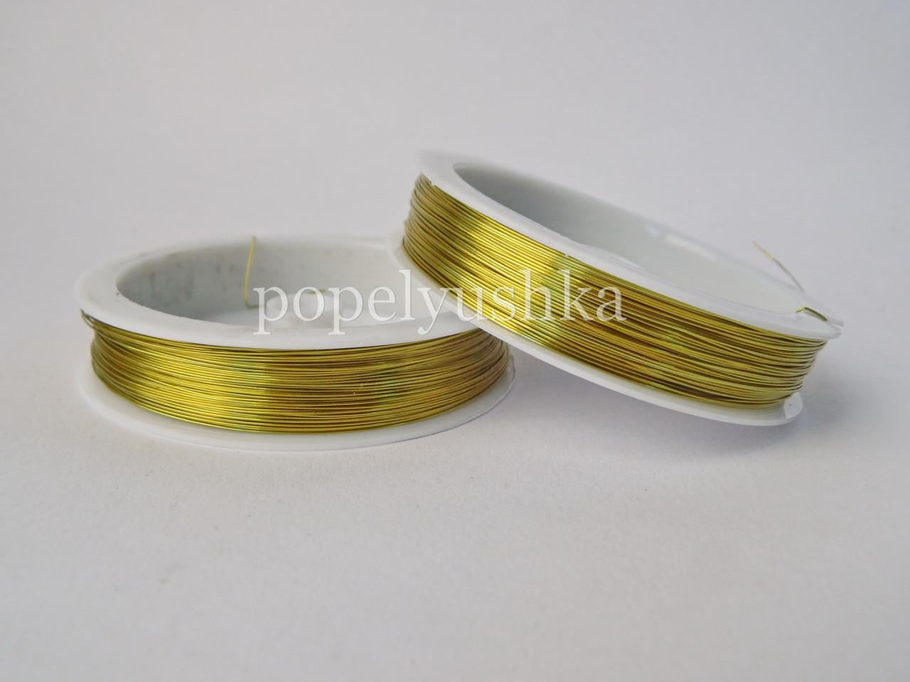Проволока 0,3мм золото 50м
