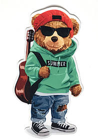 Нашивка Ведмедик з гітарою 230х120 мм