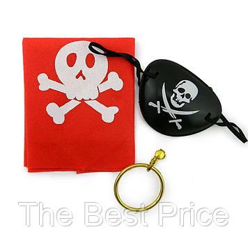 Набор Пирата (бандана, серьга, повязка на глаз)