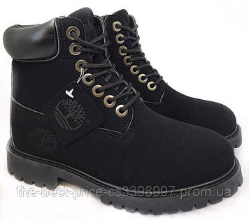 Чоловічі Зимові черевики Timberland з хутром Чорні