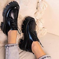 Черные  туфли женские  натуральная кожа