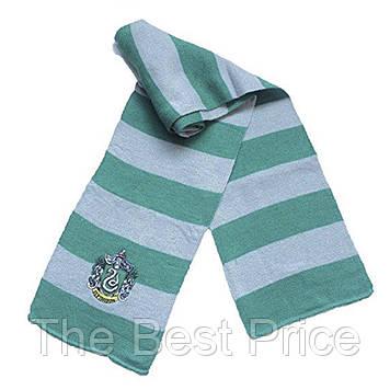 Шарф Гарри Поттер Слизерин (зеленый с серым)