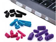 USB Заглушки для портів ноутбука від пилу і бруду (13 шт) LAN, VGA, HDMI, USB, Audio, eSATA, Fire Wire, SD