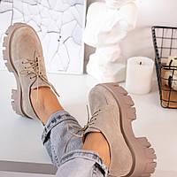 Бежевые  туфли женские  натуральная кожа
