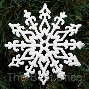 Украшение Снежинка Морозный узор 11х11см (уп 10шт)