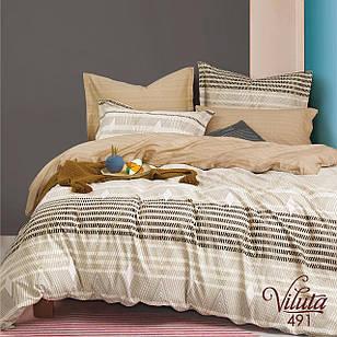 Постільна білизна полуторна сатин Viluta комплект постільної білизни півторачка