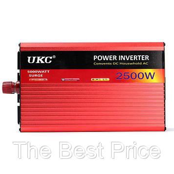 Преобразователь авто инвертор UKC 12V-220V AR 2500W c функцией плавного пуска USB