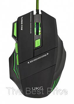 Проводная игровая мышка UKC X7S 3D с подсветкой коврик (6967)
