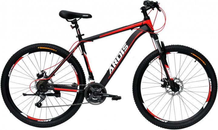 """Гірський велосипед Ardis COLT R26"""" 15"""" алюмінієвий з дисковими гальмами (Чорно-червоний)"""