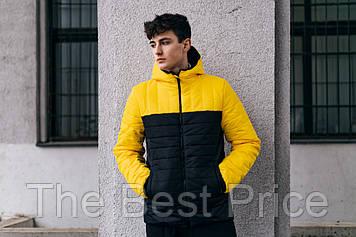 Демісезонна Куртка Temp бренду Intruder (жовта - чорна)