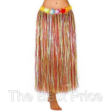 Гавайська спідниця (75см) веселка