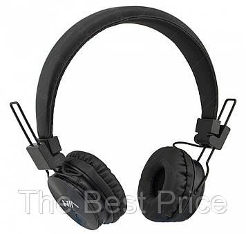 Бездротові Bluetooth стерео навушники НЯ X3 з МР3 і FM чорний (4362)