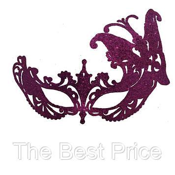 Венеціанська маска Баттерфляй (малинова)