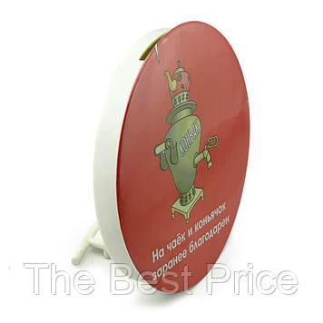 Скарбничка прикольна офісна На чайок і коньячок, заздалегідь вдячний