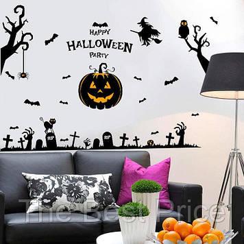 Интерьерная наклейка Хэллоуин Тыква SK9093 60х90см