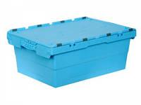Ящик пластиковый 600х400х240 с крышкой вторичный, фото 1