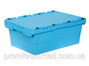 Ящик пластиковый 600х400х240 с крышкой вторичный