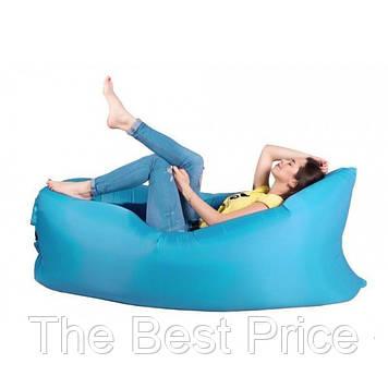 Надувний лежак, шезлонг, диван, мішок, матрац, Сумка для перенесення Світло-блакитний