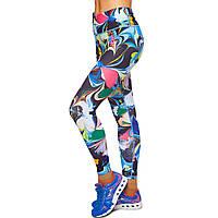 Лосины для фитнеса и йоги с принтом Domino YH101 размер S-L рост 150-180, вес 40-60кг мультиколор S, рост