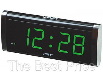 Годинник VST VST-730 мережеві 220В led будильник Black (1819)