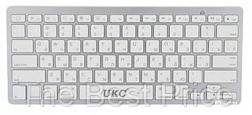 Бездротова Bluetooth клавіатура UKC BK3001 (X5) Silver (3710)
