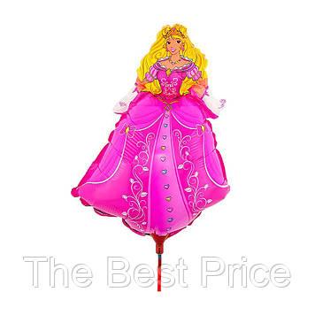 Шарик 40см Принцесса на палочке